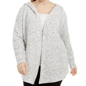 Ideology Plus Size Open Front Hoodie Size 1X